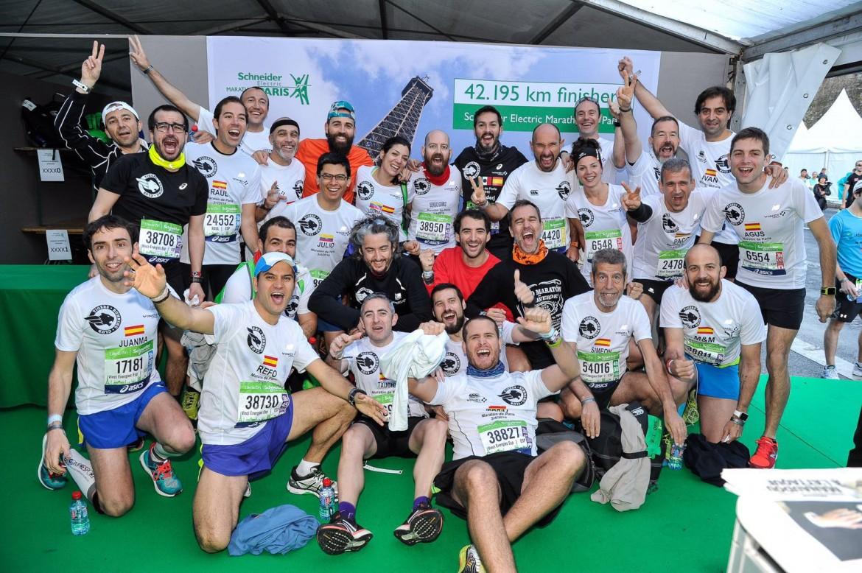 Salida del maratón de París